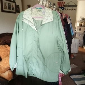 New Green Spring/Fall Rain Jacket, XL